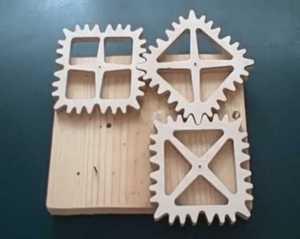 Engrenagens quadradas
