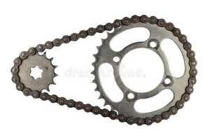 Roda dentada para corrente de rolos